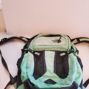 The Northface Teal and Purple Backpack
